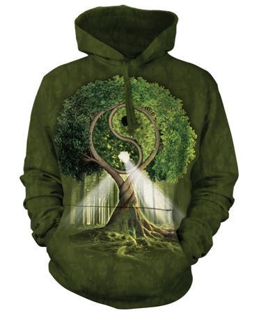 Hoodie: Ying Yang Tree