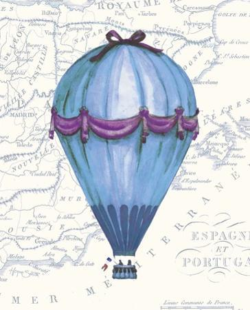 Vintage Blue Air Balloon by Hope Smith