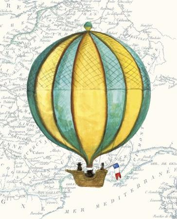 Vintage Striped Air Balloon by Hope Smith