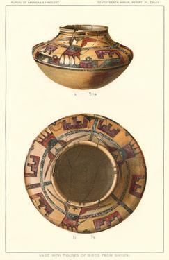 Hopi Pot with Birds from Sikyatki