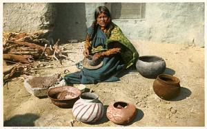 Hopi Woman Making Pottery