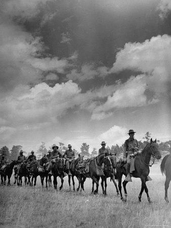 Cavalry in Maneuvers at Ft. Francis Warren