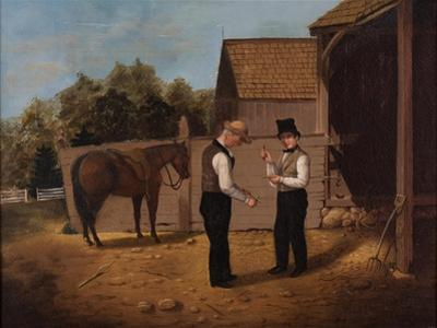 Bargaining for a Horse, 1850-1855 by Horace Bundy