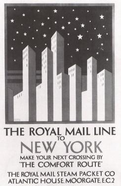 The Royal Mail Line to New York, c.1925 by Horace Taylor