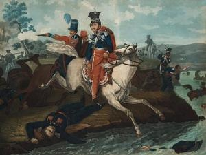 Death of Prince Józef Poniatowski in the Battle of Leipzig, 1820 by Horace Vernet