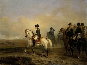 Emperor Napoleon I and His Staff on Horseback by Horace Vernet