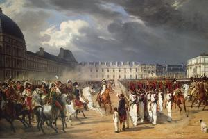 Invalid Handing a Petition to Napoleon at the Parade in the Court of the Tuileries Palace by Horace Vernet