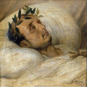 Napoleon on His Deathbed, May 1821 by Horace Vernet