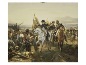 Napoleon on the Battlefield Friedland, June 14, 1807 by Horace Vernet