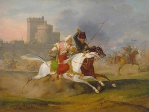 Turk and Cossack, 1809 by Horace Vernet