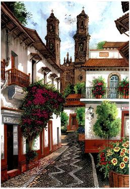Horacio Robles Jr Old Mexico City Art Print Taxco Poster