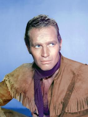Horizons Lointains THE FAR HORIZONS by Rudolph Mate with Charlton Heston, 1955 (photo)