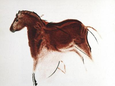 Horse and Hind, Palaeolithic Cave Painting from Altamira, Southern Spain, C16,000-C9000 Bc