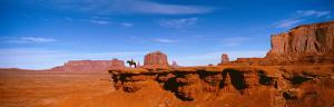 Horse and Rider, Monument Valley, Arizona, USA