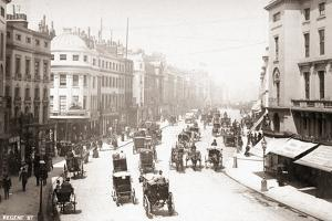 Horse Driven Carriages on Early London Street