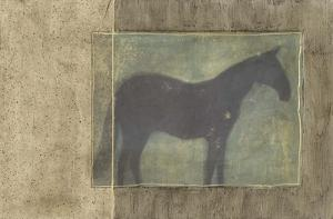Horse in Textured Frame I
