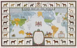 Horse Map of the World Showing Different Breeds