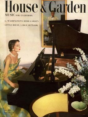 House & Garden Cover - July 1950 by Horst P. Horst