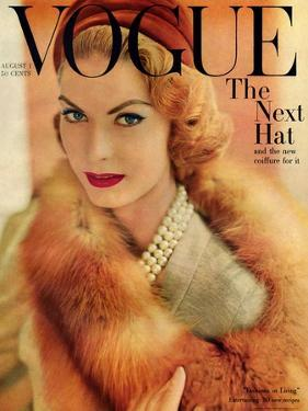 Vogue Cover - August 1957 by Horst P. Horst