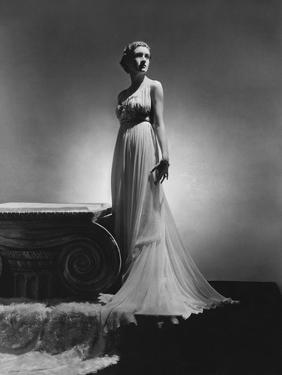Vogue - February 1936 - Chiffon Gown by Madame Gres by Horst P. Horst