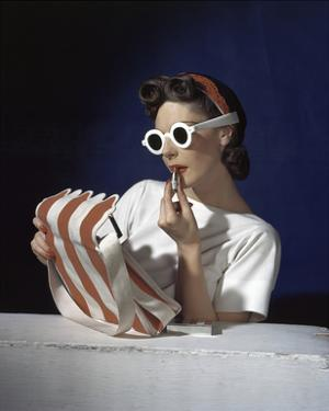 Vogue - July 1939 - White Sunglasses & Red Lipstick by Horst P. Horst