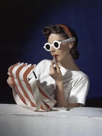 Vogue - July 1939 - White Sunglasses & Red Lipstick