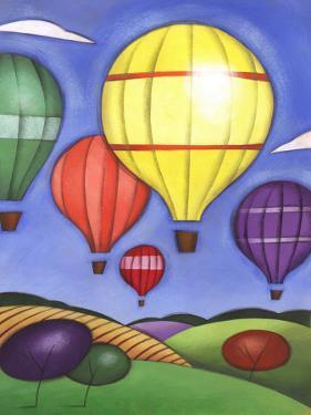 Hot Air Balloons over Farmland