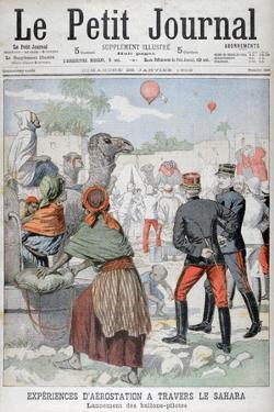 Hot Air Baloons Crossing the Sahara Desert, 1903