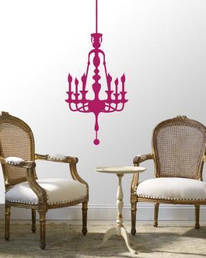 Hot Pink Classic Chandelier