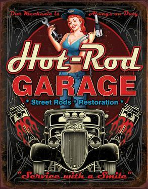 Hot Rod Garage - Pistons Tin Sign