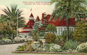 Hotel del Coronado in Winter, San Diego, California