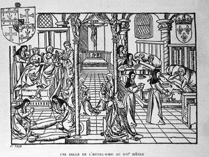 Hotel-Dieu, Paris. Nuns Feed the Living and Shroud the Dead, 1482