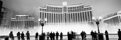 Hotel Lit Up at Night, Bellagio Resort and Casino, the Strip, Las Vegas, Nevada, USA