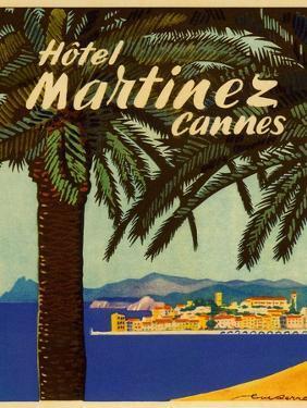 Hotel Martinez Cannes Luggage Label