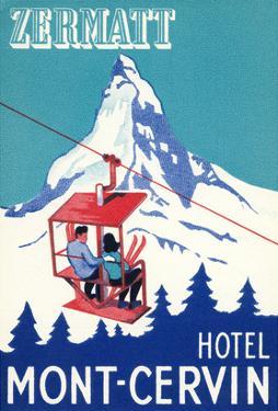 Hotel Mont-Cervin, Ski Lift Poster