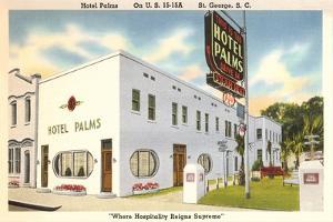 Hotel Palms, St. George, South Carolina