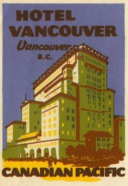 Hotel Vancouver Luggage Label