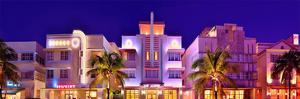 Hotels on Ocean Drive in the Art Deco District of South Miami Beach in Miami, Florida, USA