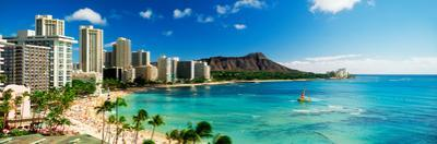 Hotels on the Beach, Waikiki Beach, Oahu, Honolulu, Hawaii, USA