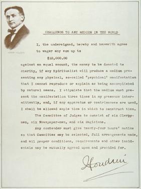 Houdini's Challenge to Any Medium in the World (Print)
