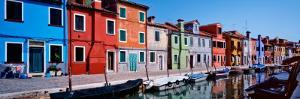 Houses at the Waterfront, Burano, Venetian Lagoon, Venice, Italy