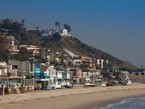 Houses at the Waterfront, Malibu, Los Angeles County, California, USA