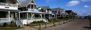 Houses in a Town, Oak Bluffs, Martha's Vineyard, Dukes County, Massachusetts, USA