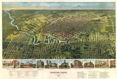 Houston, Texas - Panoramic Map