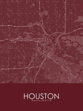 Houston, United States of America Red Map