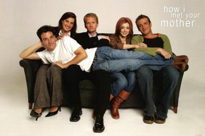 How I Met Your Mother Group on Couch TV Poster Print