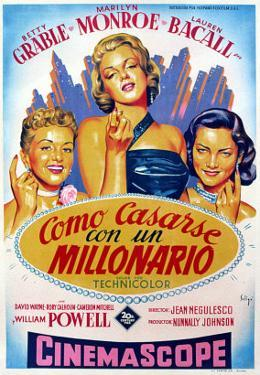 How to Marry a Millionaire, Betty Grable, Marilyn Monroe, Lauren Bacall, 1953