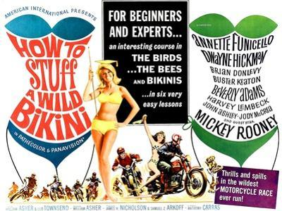 How to Stuff a Wild Bikini, half-sheet poster, 1965