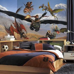 How to Train Your Dragon Chair Rail Prepasted Mural