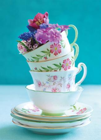 Pretty Cups and Flowers